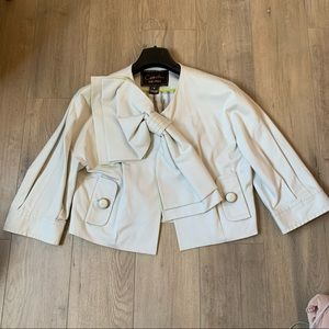 Coach crop jacket with bow